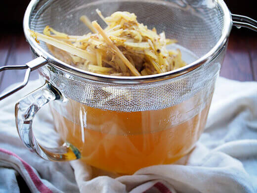 Strain the syrup and discard the solids