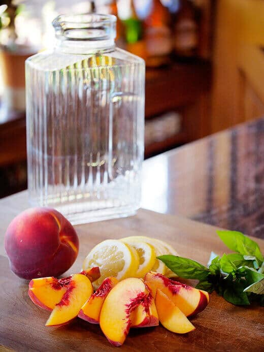 The makings of a summertime sangria