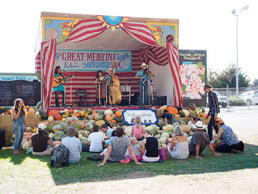 Live entertainment stage