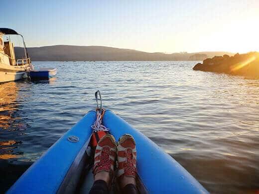 Kayaking in Tomales Bay