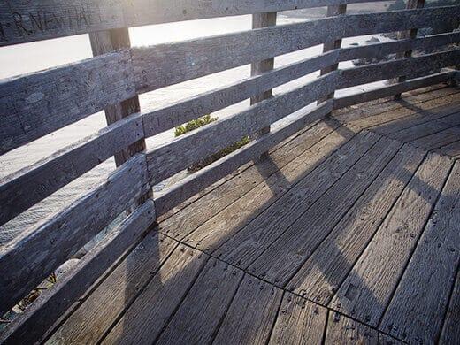 Wooden deck on Sentinel Rock