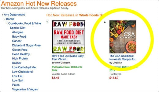 The CSA Cookbook is an Amazon Hottest New Release!