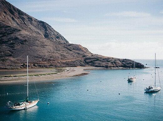 Backside of Catalina Island