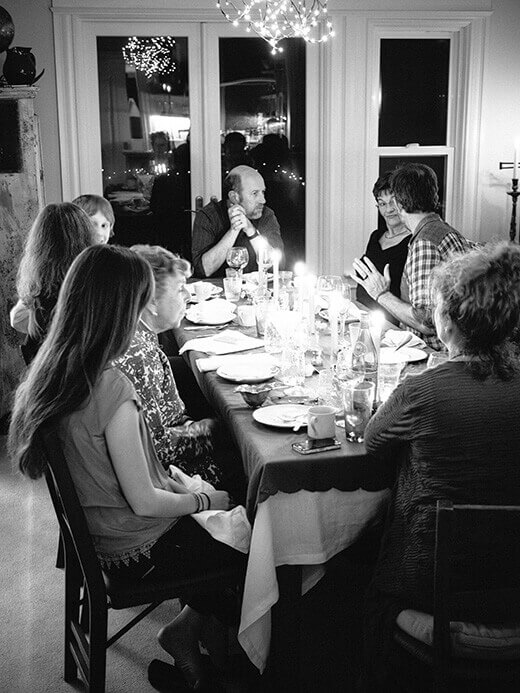 Celebrating Thanksgiving with family