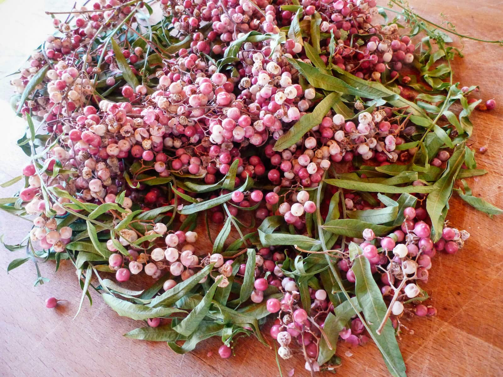Foraged pink peppercorns