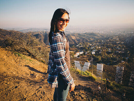 New Year's Day hike to the Hollywood Sign