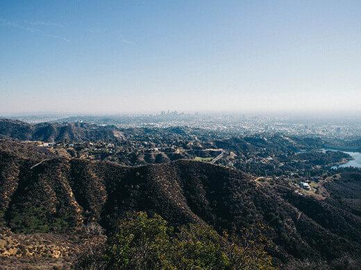 View of Beachwood Canyon