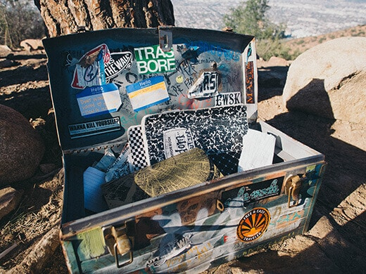 Metal box on Burbank Peak