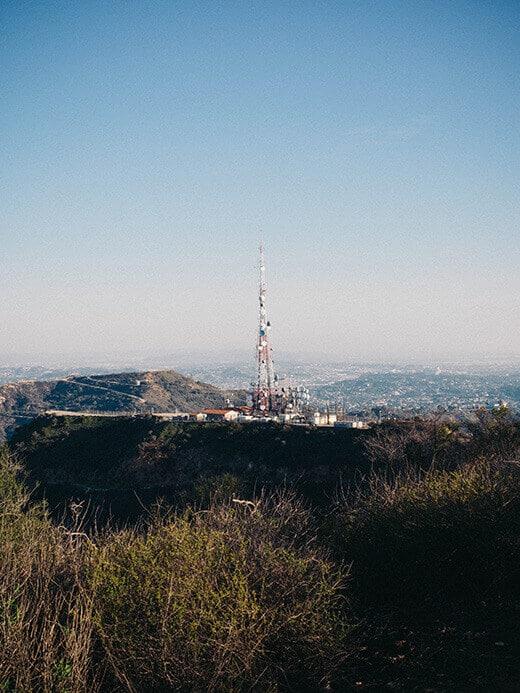 Mount Lee radio tower