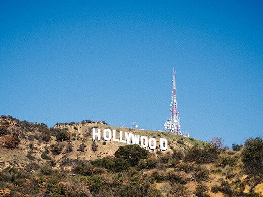 The new Hollywood Sign