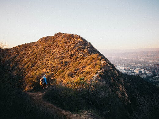 Hiking out in the golden hour