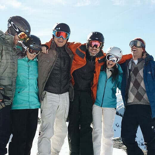 Snowboarding with friends on Crystal Mountain