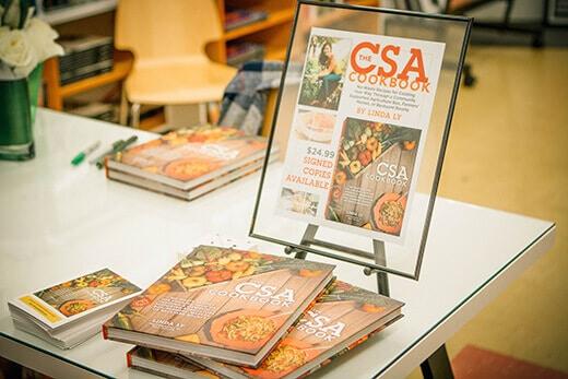The CSA Cookbook signing