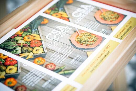 The CSA Cookbook promo cards
