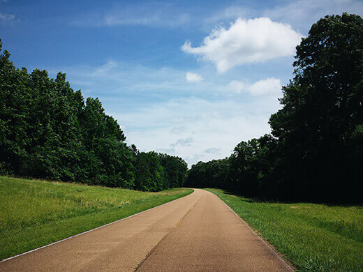 Driving on the Natchez Trace Parkway