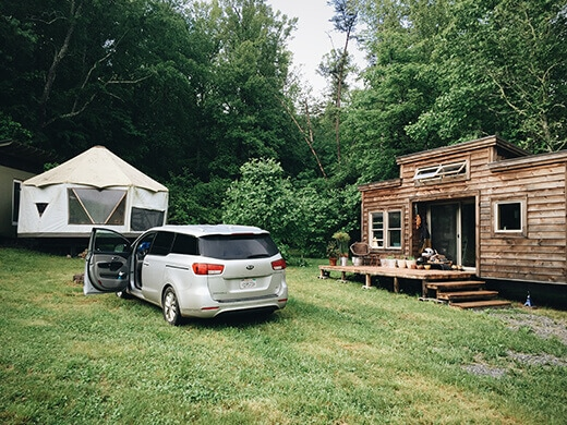 A yome and a tiny home in Asheville
