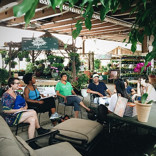 The CSA Cookbook event at Urban Garden Center in East Harlem, New York
