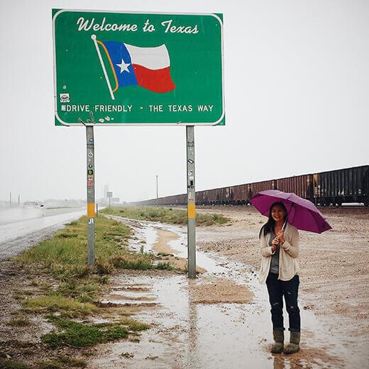 Texas stateline