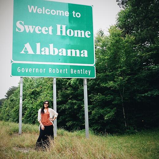 Alabama stateline