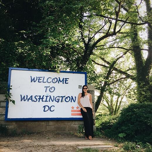 Washington, DC stateline