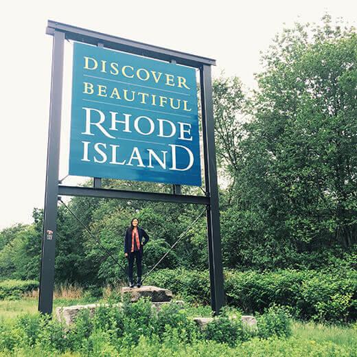 Rhode Island stateline