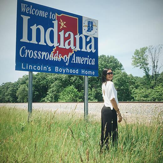 Indiana stateline