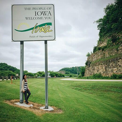 Iowa stateline