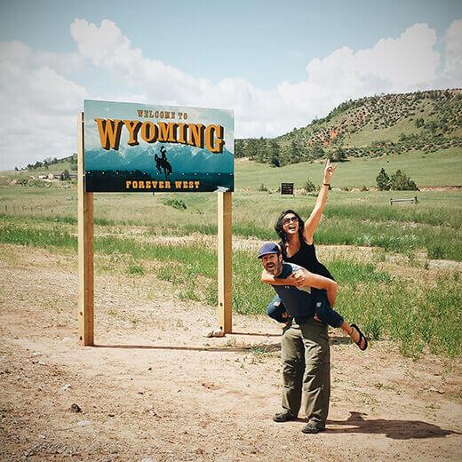 Wyoming stateline