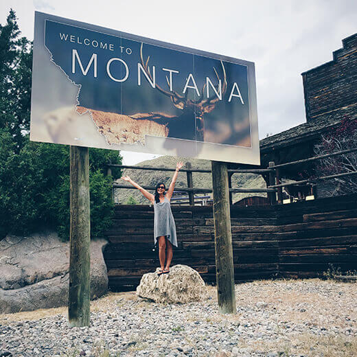 Montana stateline