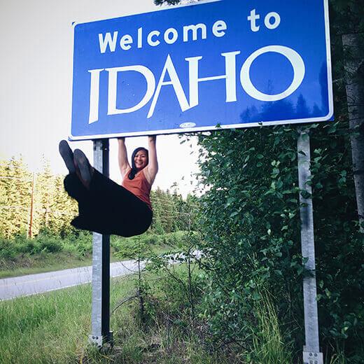 Idaho stateline