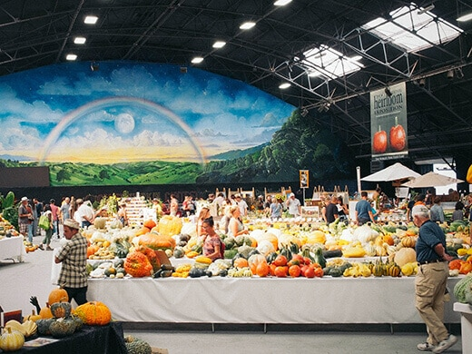 Exhibit hall at the Heirloom Expo