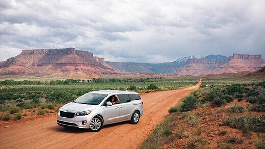 Driving out of Moab, Utah