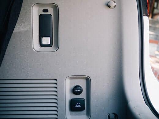 Utility flashlight and power inverter in the Kia Sedona
