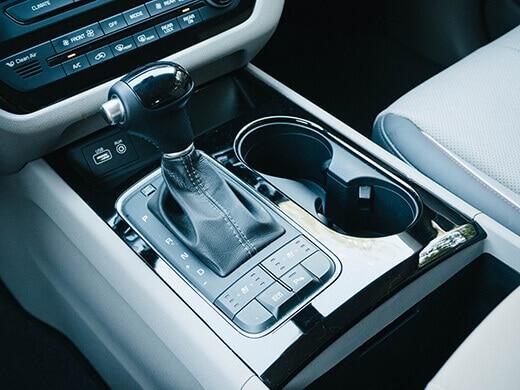 Center console in the Kia Sedona