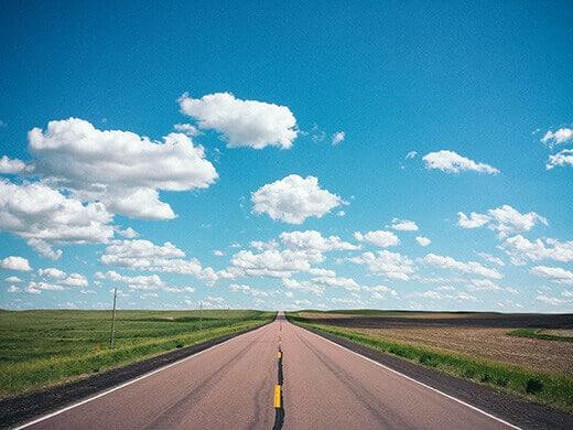 Little puffy clouds in Nebraska