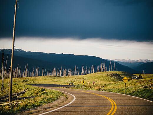 Yellowstone at dusk