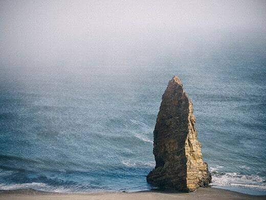 The dramatic Oregon coast