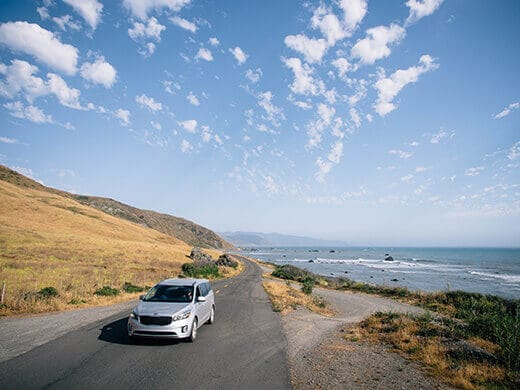 Driving along the Lost Coast