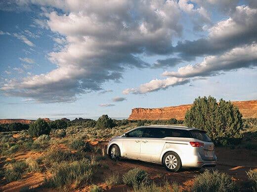 Taking the Kia Sedona off road in Moab, Utah