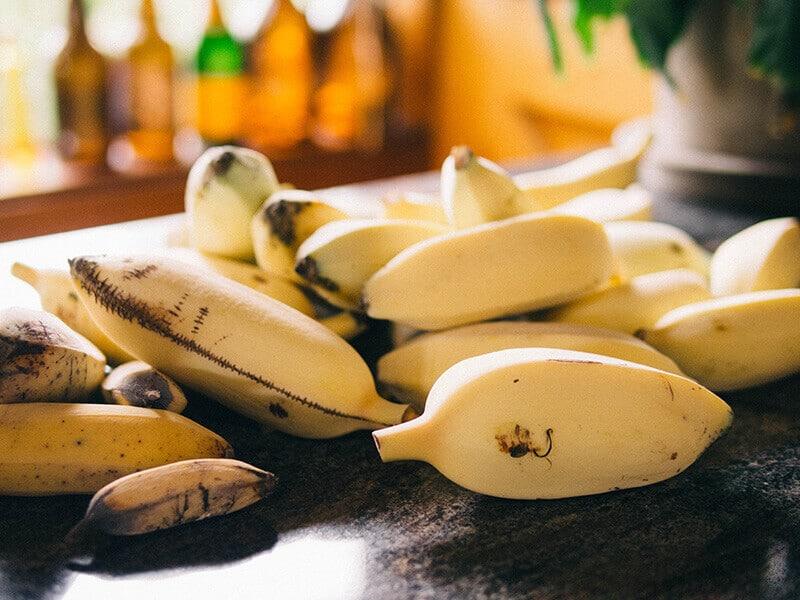 Homegrown apple bananas
