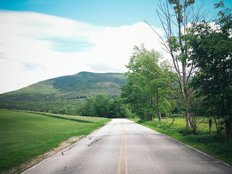 The scenic byways of Vermont