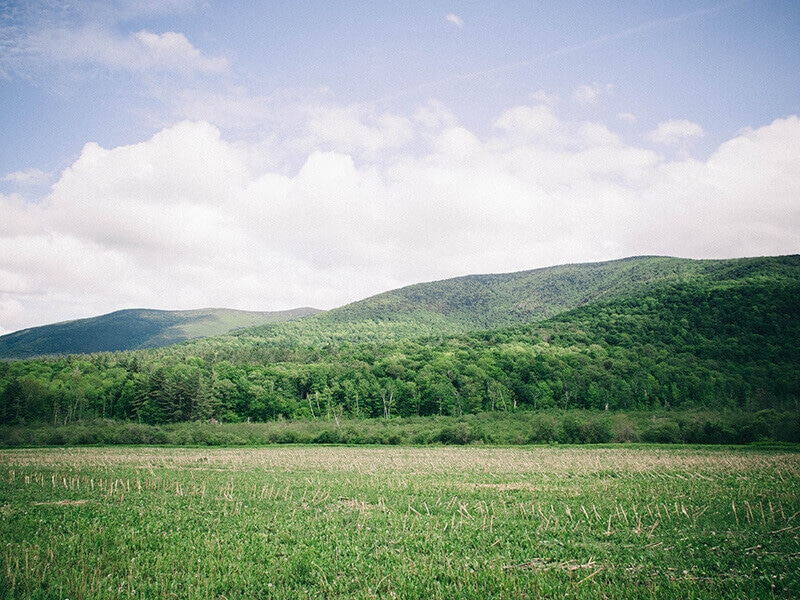 Rolling green hills of Vermont