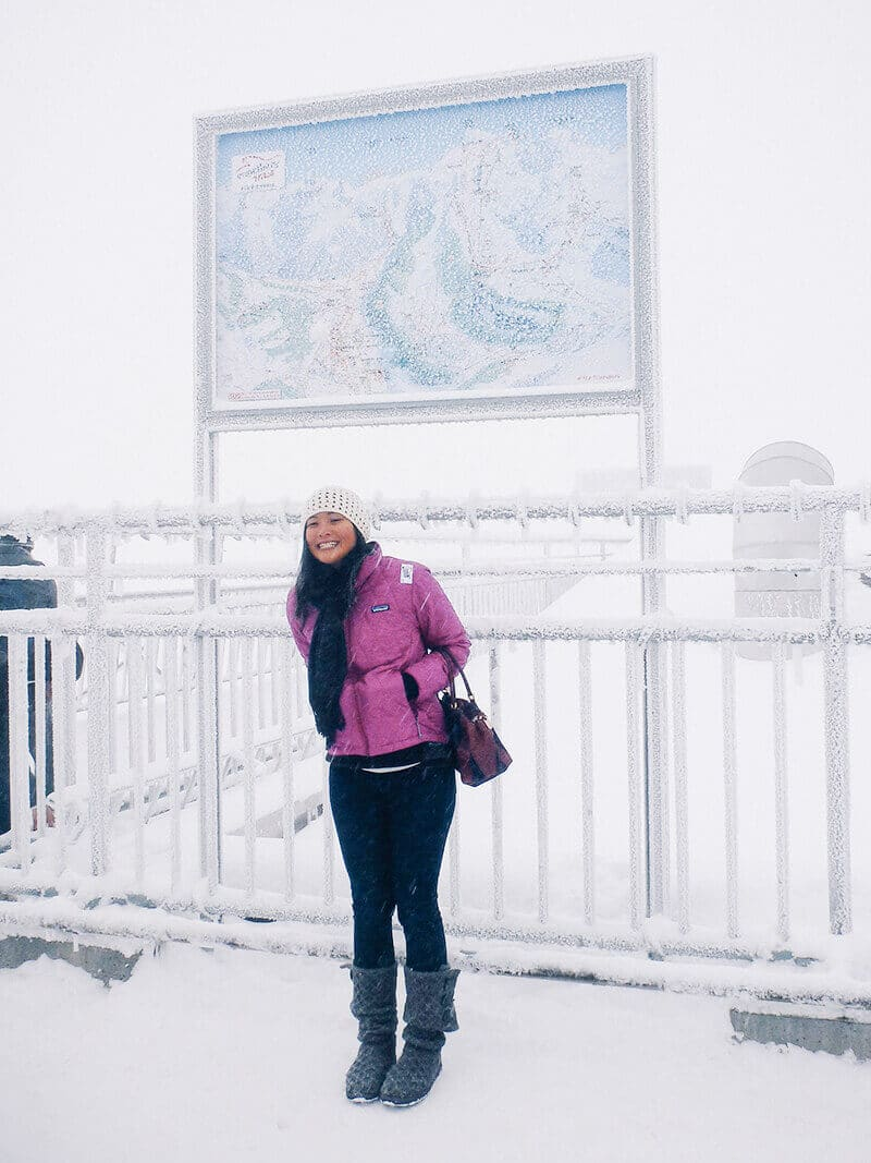 On top of Mount Titlis