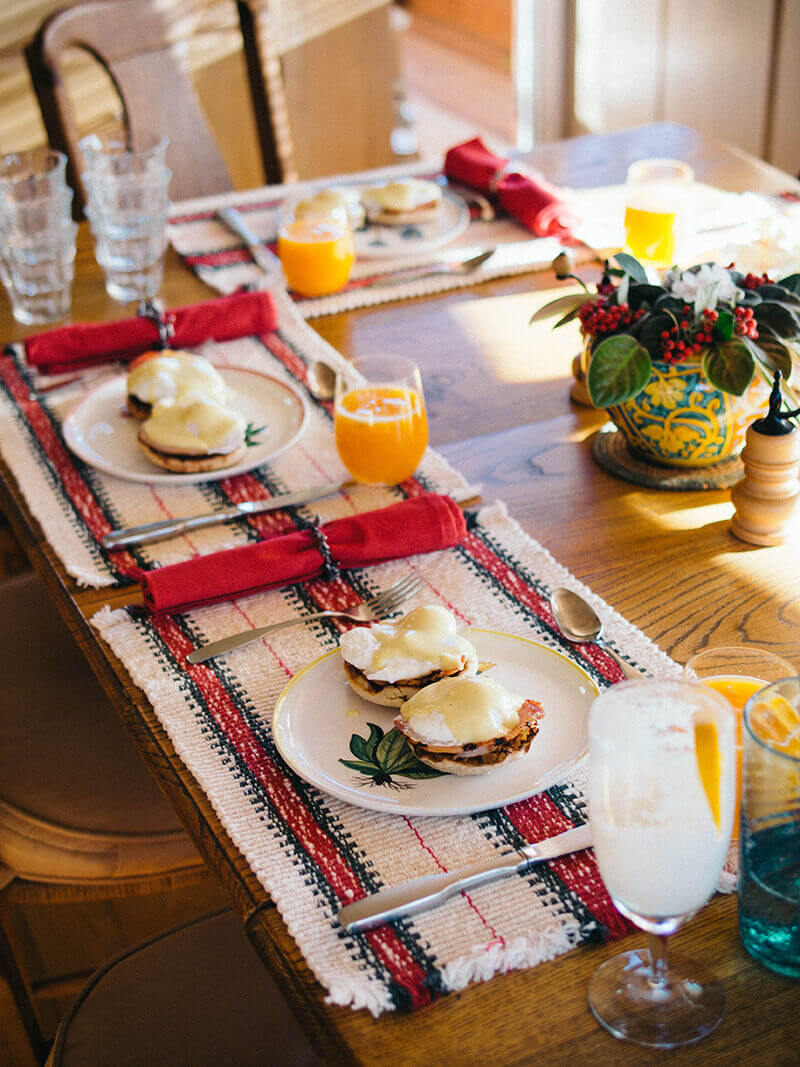 Traditional Christmas brunch