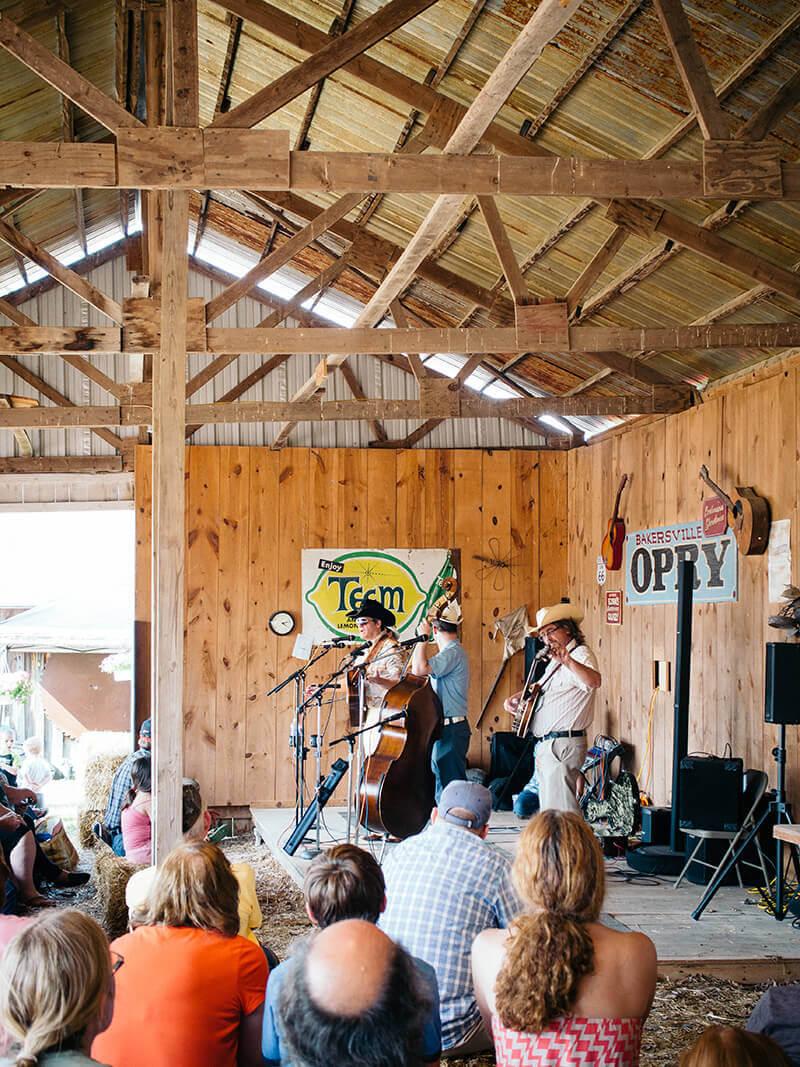 Music barn in the pioneer village