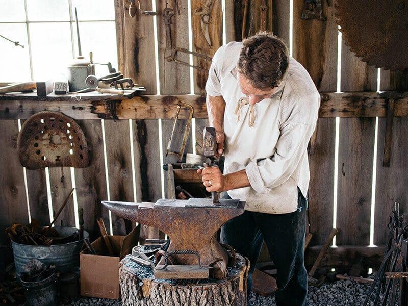 Blacksmith shop at Baker Creek