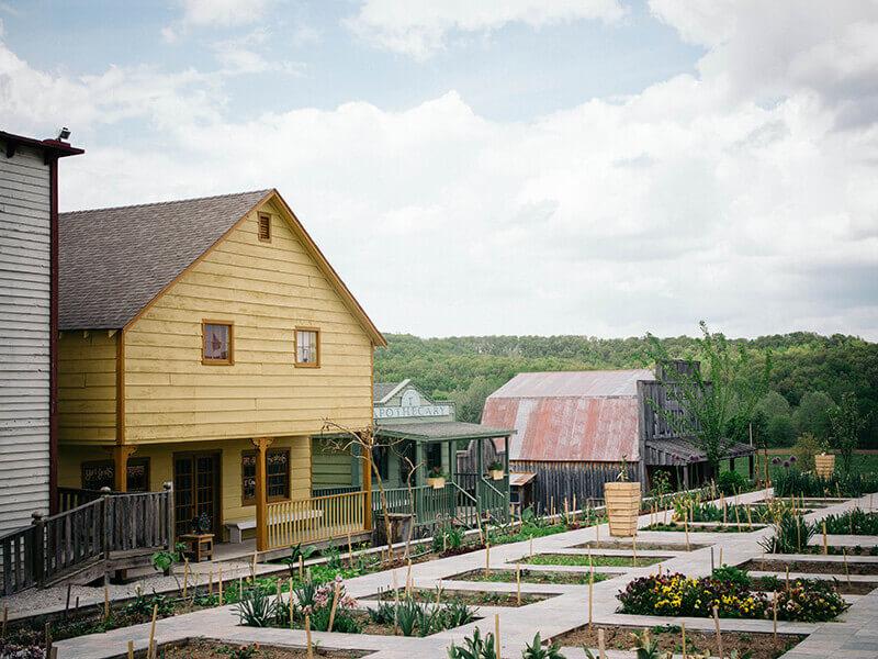 Pioneer village at Baker Creek