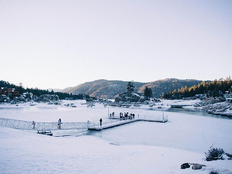 Big Bear Lake in winter
