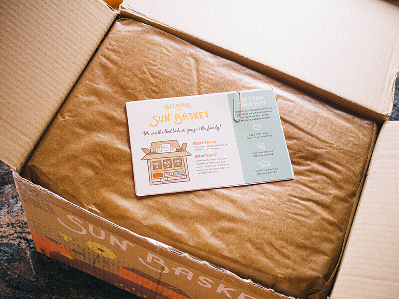 Ingredients packed in recycled denim insulation