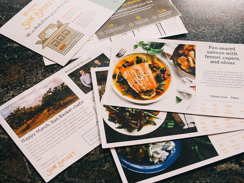Recipes from a prominent chef